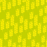 Vector seamless pattern with wheat ears and grains. Geometry concept modern repeatable motif Royalty Free Stock Photo