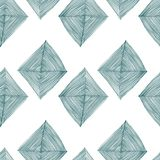 Seamless  pattern on white background with abstract rhombuses green Stock Photography