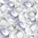 Vector Seamless Pattern, Bubbles Background, 3D Illustration. royalty free illustration