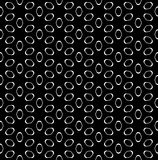 Vector seamless pattern, white figures on black Stock Photo