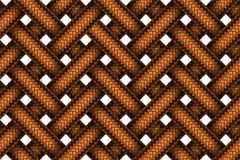 Vector seamless pattern of white interweaving brown leather brai Stock Photography