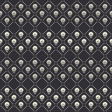 Vector seamless pattern with white lightbulbs and dotted lines Royalty Free Stock Photo