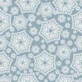 Vintage seamless pattern winter  snowflake decoration Royalty Free Stock Photos