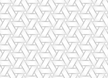 Vector seamless pattern of white weaved paper strips. Stock Image
