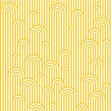 Vector Seamless Pattern with White and Yellow Waves. Minimalist Texture. Noodle and Pasta Abstract Background Concept