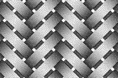 Vector seamless pattern of wicker bars. Stipple texture. Vector seamless decorative pattern of wicker bars. Stipple texture Royalty Free Stock Image
