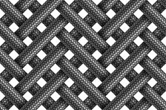 Vector seamless pattern of wicker fabric braided cords. Stock Image