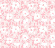 Vector seamless pattern with  wild roses, vintage style. Hand drawn fabric design. Stock Image