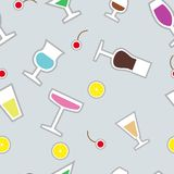 Vector seamless pattern with wineglass Royalty Free Stock Photos