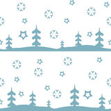 Vector seamless pattern winter Royalty Free Stock Image