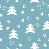 Vector seamless pattern winter Stock Photos