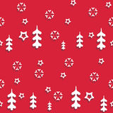 Vector seamless pattern winter Royalty Free Stock Images