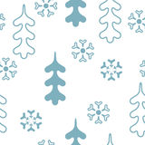 Vector seamless pattern winter Stock Images