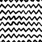 Vector seamless pattern witch sketch zigzag texture Royalty Free Stock Images