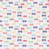 Vector Seamless Pattern With Colorful Glasses-illustration Stock Image