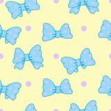 Vector Seamless Pattern With Cute Bows Royalty Free Stock Image
