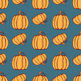 Vector Seamless Pattern With Pumpkins.