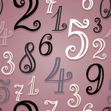 Vector Seamless Pattern With Vintage Numbers Stock Photo