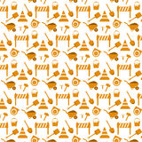 Vector seamless pattern working tools Stock Photos