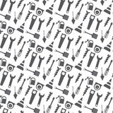 Vector seamless pattern working tools background Royalty Free Stock Photo