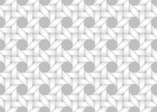 Vector seamless pattern of woven bands. White texture. Vector seamless decorative pattern of woven bands. White texture with ribbons vector illustration