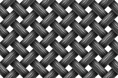 Vector seamless pattern of woven fabric braided cords. Stock Photos