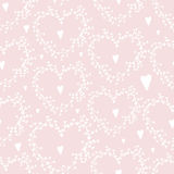 Vector seamless pattern with wreathes and hearts, Royalty Free Stock Images