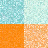 Vector seamless patterns Stock Photo