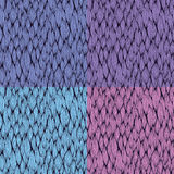 Vector seamless patterns with curvy elements Stock Images