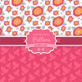 Vector seamless  patterns. Dove. Shabby chic. Floral patterns (s Stock Photos