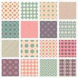 Vector seamless patterns Royalty Free Stock Photos