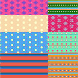 Vector seamless patterns Royalty Free Stock Image