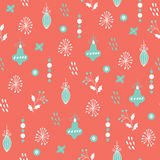 Vector seamless patterns. Hand drawn texture for Christmas, winter holidays, party invitations Royalty Free Stock Photos