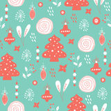 Vector seamless patterns. Hand drawn texture for Christmas, winter holidays, party invitations vector illustration