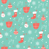 Vector seamless patterns. Hand drawn texture for Christmas, winter holidays, party invitations stock illustration