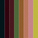 Rhombuses. 8 Vector Seamless Patterns. EPS10. Stock Photos