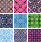 Vector seamless patterns. set Stock Photography