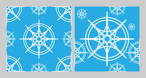 Vector seamless patterns set Stock Image