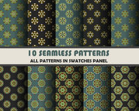 Vector of Seamless Patterns set. Eps 10 Stock Images