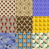 Vector of Seamless Patterns set. Eps 10 Stock Image