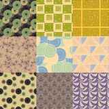 Vector of Seamless Patterns set Stock Image