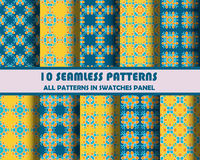 Vector of Seamless Patterns set. Eps 10 Stock Photo