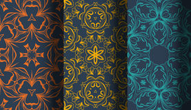 Vector of Seamless Patterns set Stock Photography