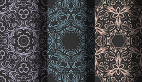 Vector of Seamless Patterns set. Eps 10 Royalty Free Stock Photography