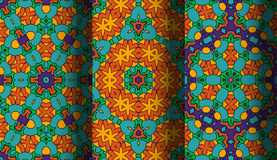 Vector of Seamless Patterns set. Eps 10 Royalty Free Stock Images