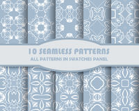 Vector of Seamless Patterns set. Eps 10 Royalty Free Stock Image