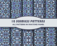Vector of Seamless Patterns set Royalty Free Stock Photos