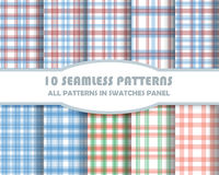 Vector of Seamless Patterns set Stock Photo