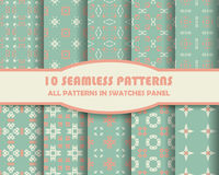 Vector of Seamless Patterns set Royalty Free Stock Images