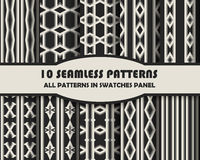 Vector of Seamless Patterns set. Eps 10 Royalty Free Stock Photo